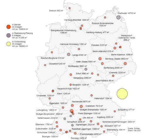 Solarthermie-Großanlagen in Deutschland