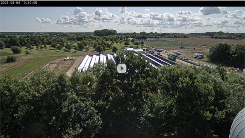 Live Cam zur Baustelle von Deutschlands größter Solarthermie-Anlage made by Ritter XL Solar
